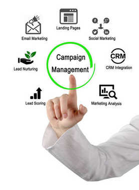 woman presenting Campaign Management