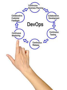 woman presenting Steps in DevOps process