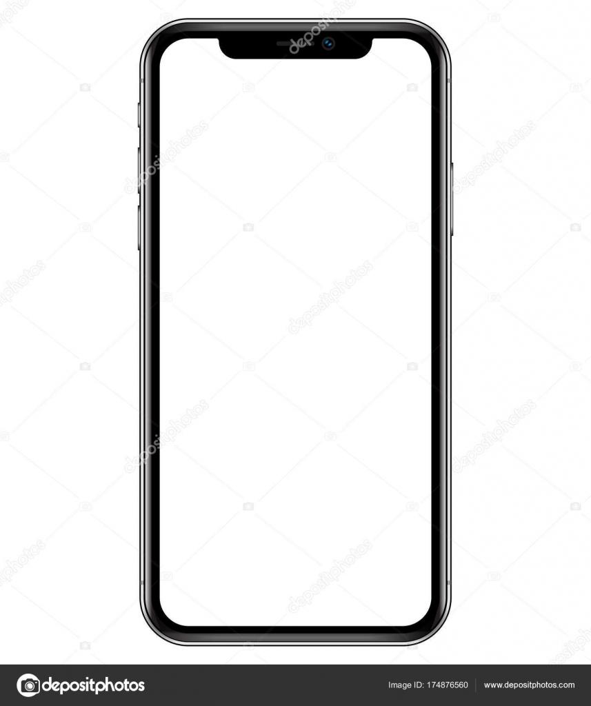 smartphone mockup illustration phone vector stock