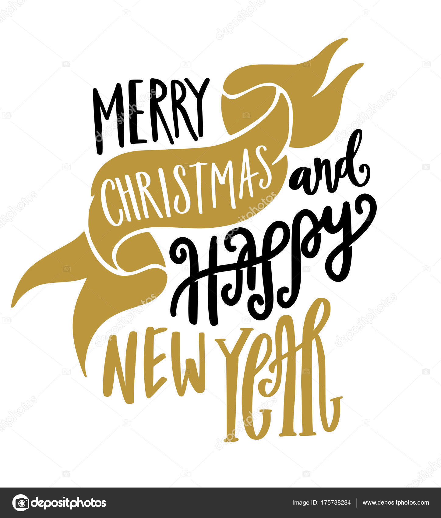 merry christmas happy new year banner vector by yellowpixel
