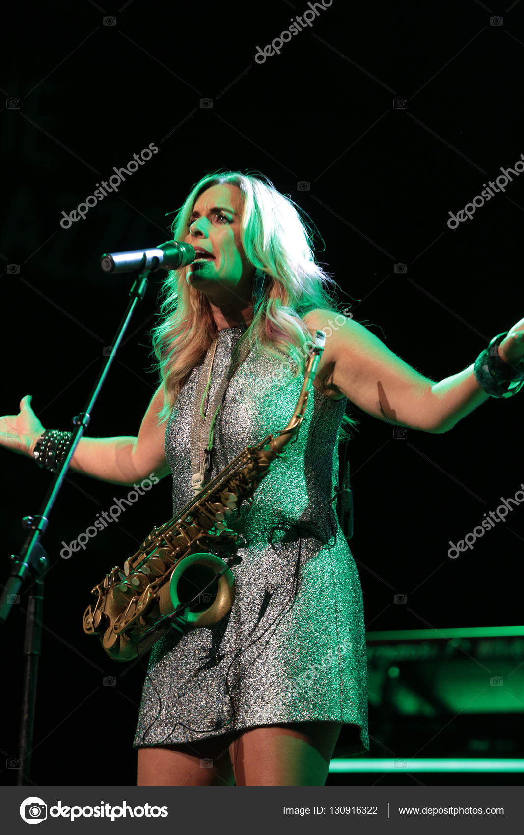Candy Dulfer live on stage in ICE Cracow, Poland – Stock
