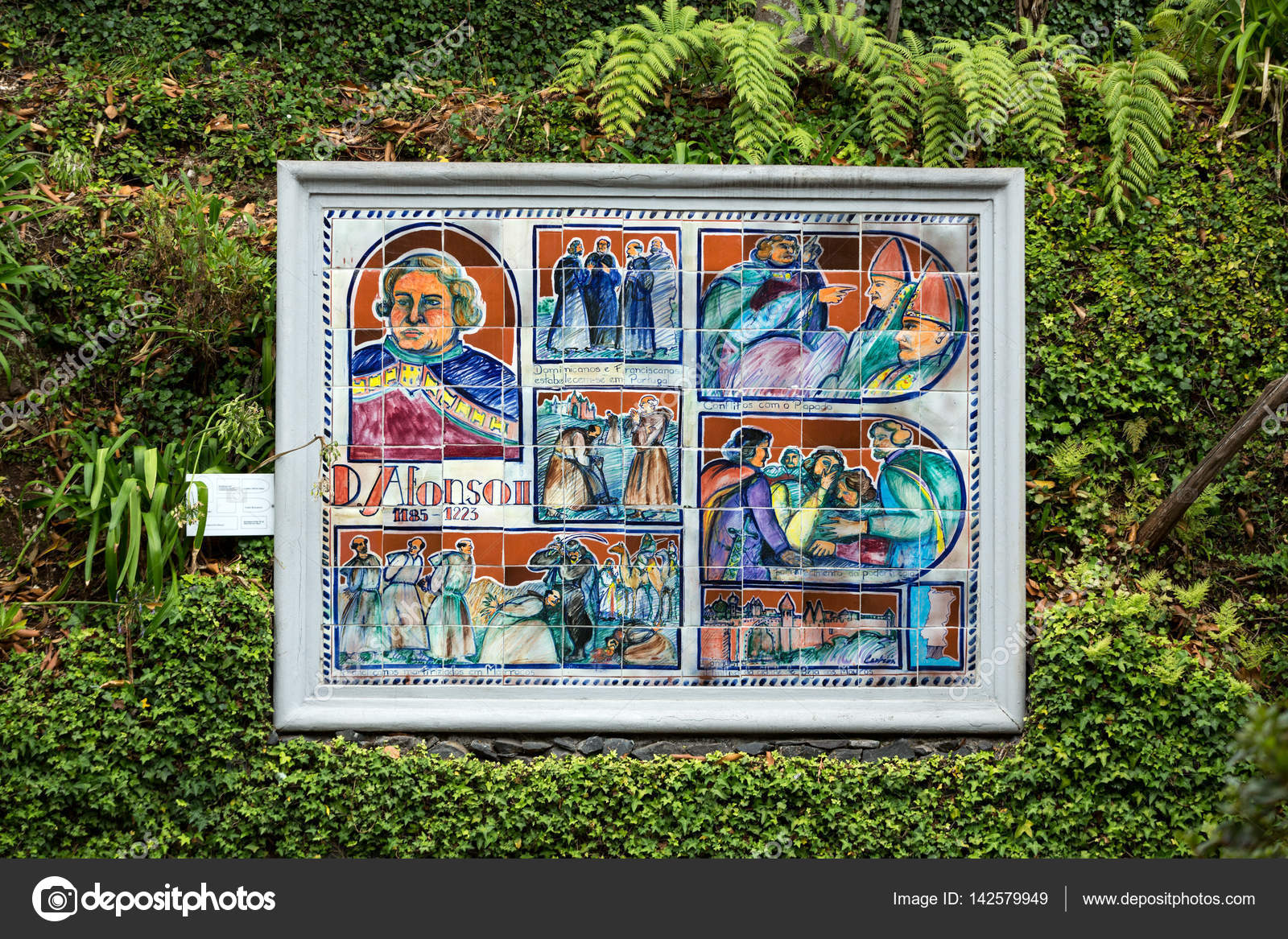 Collage of ceramic tile pictures in botanical garden monte of collage of ceramic tile pictures in botanical garden monte of funchal madeira history of dailygadgetfo Images