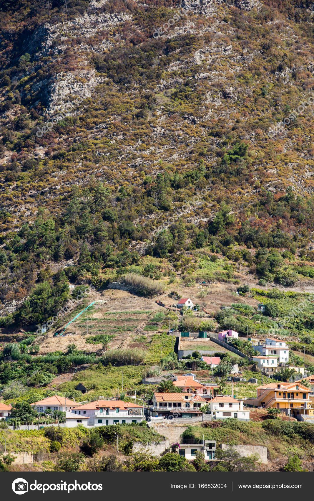 Village Et Terrasse La Culture Dans Les Environs De Sao Vicente