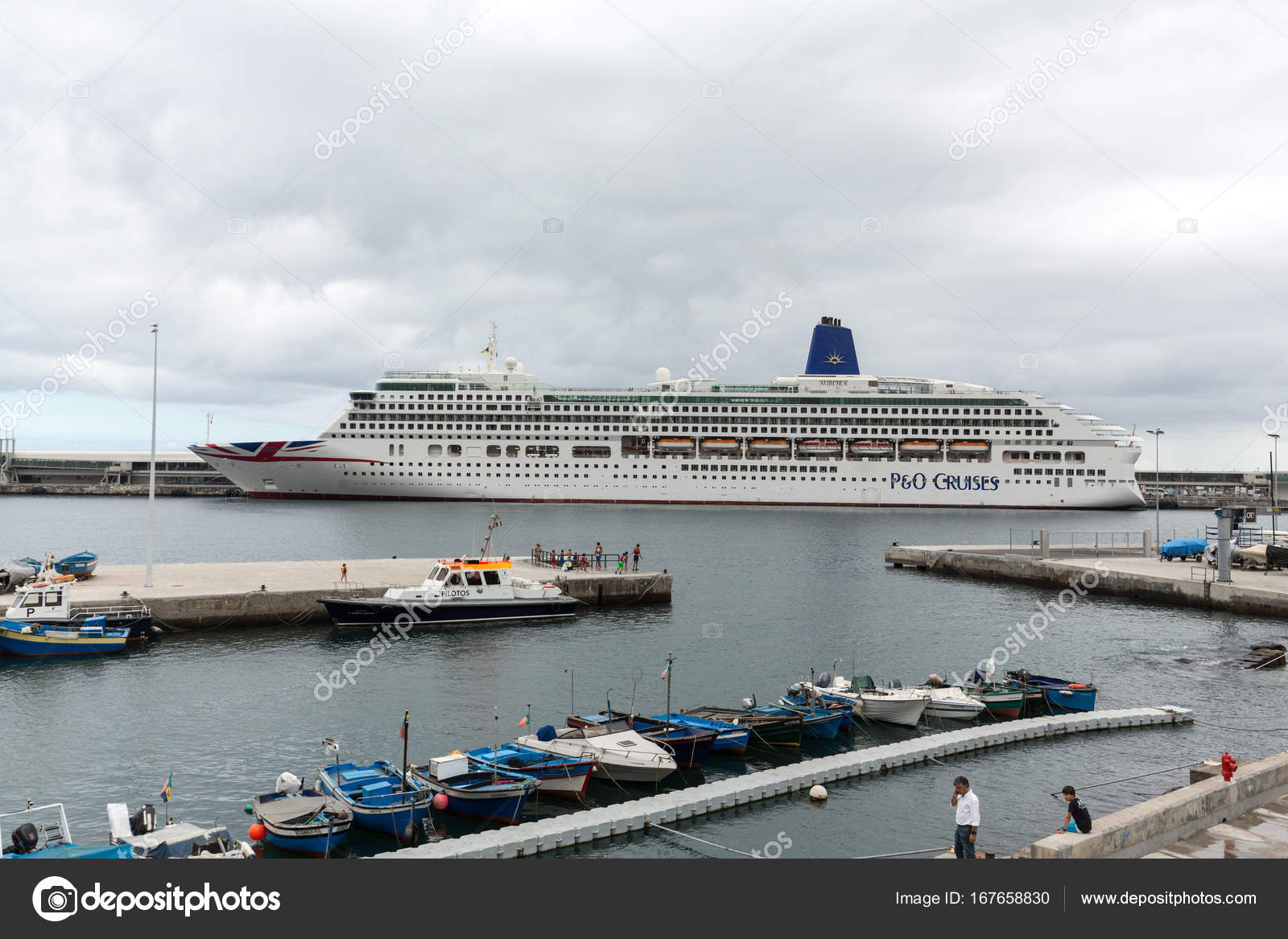 Cruise Ship Is Docked In The Port Of Funchal The Capital Of - Docked cruise ship