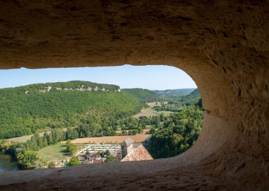 View of the valley of the Dordogne River from Castelnaud Castle, Aquitaine, France