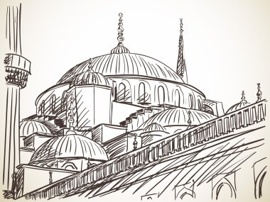 Mosque in Istanbul sketch