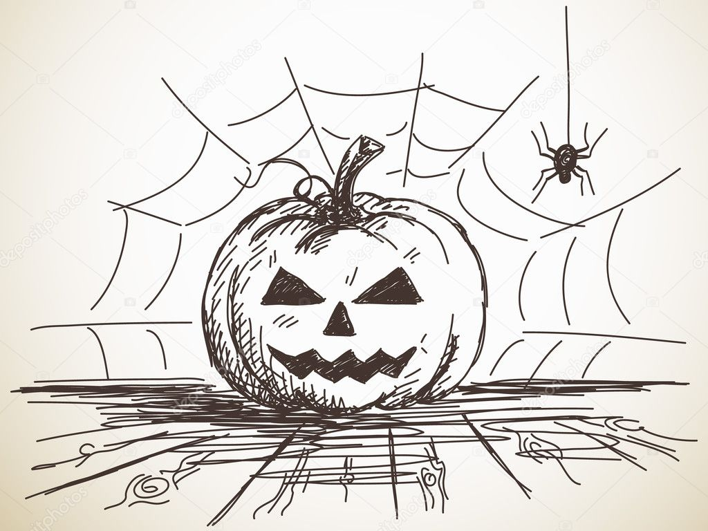 Прикольные рисунки черной ручкой или карандашом на хэллоуин