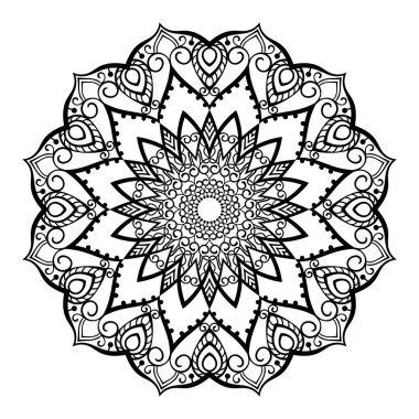 Ornamental mandala for coloring book