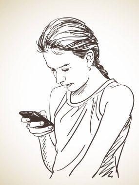 teenager girl using smart phone