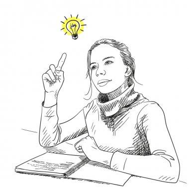 girl having brilliant idea