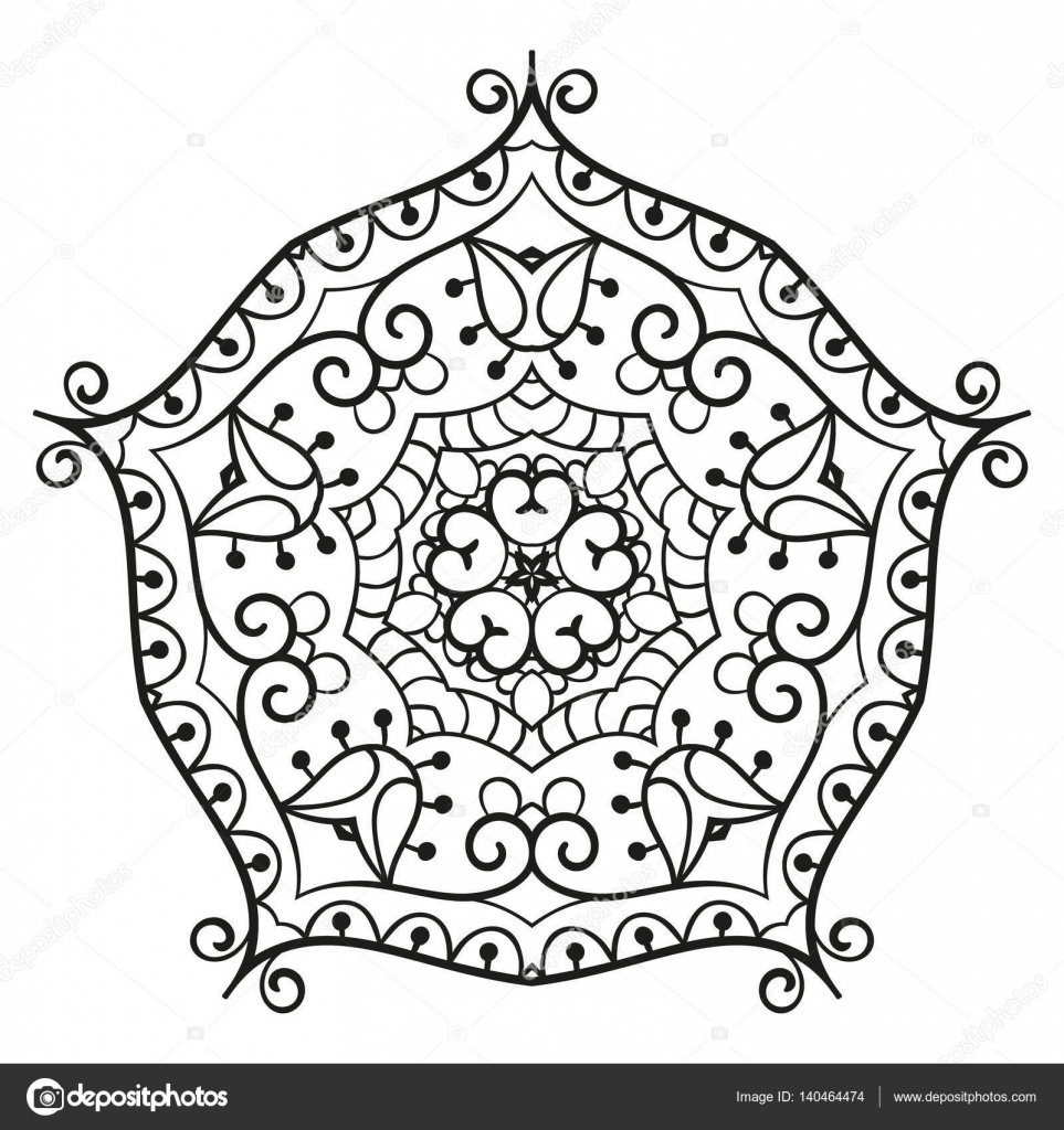 Mandala para colorear libro — Vector de stock © OlgaTropinina #140464474