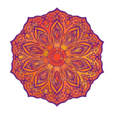 Round mandala in different shades