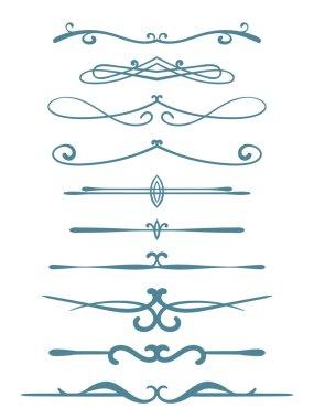 Ornamental calligraphic lines