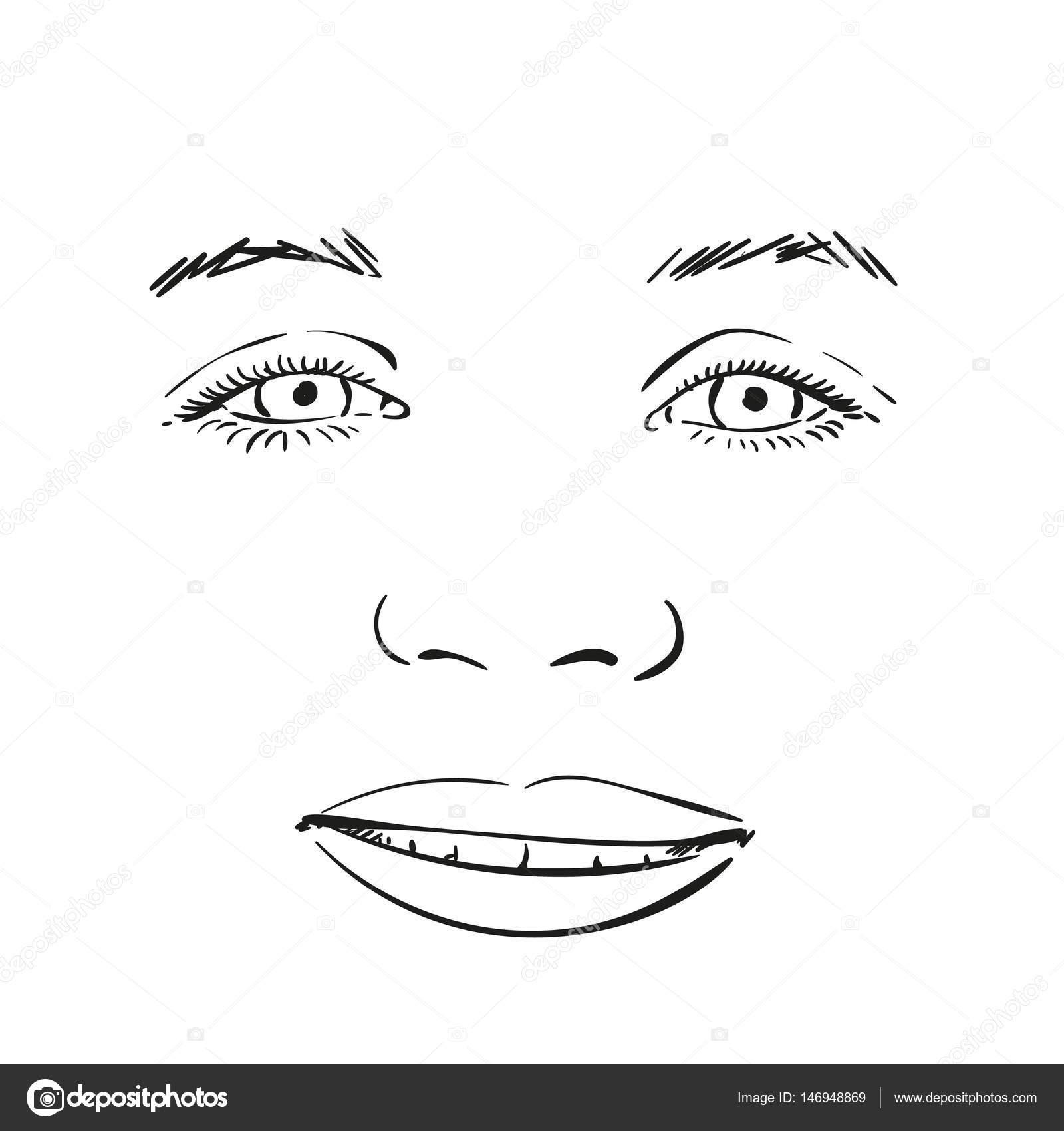 Нарисованные губы девушки