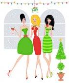 Stylový přátele na vánoční večírek