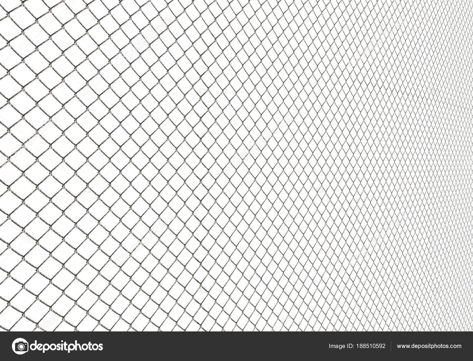 Metall-Draht-Zaun auf weißem Hintergrund Illustration — Stockfoto ...