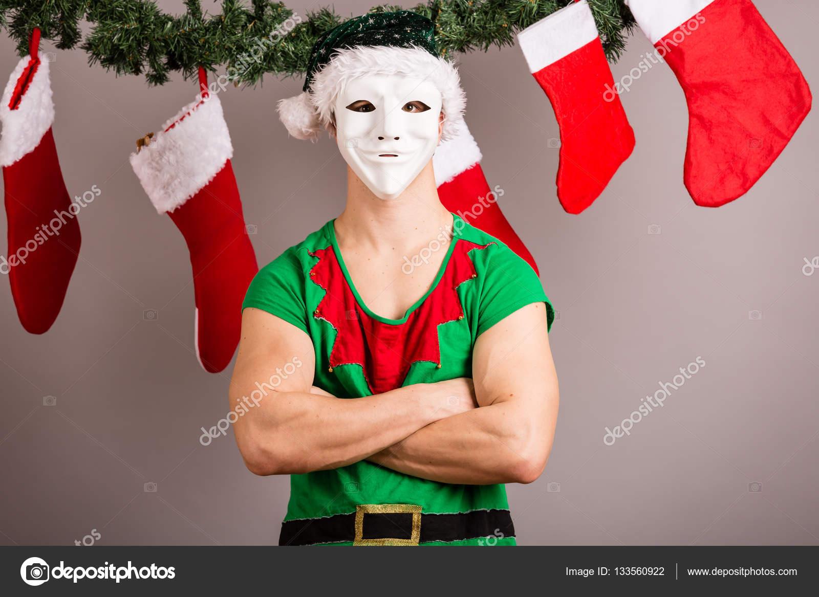 Funny Christmas elf — Stock Photo © csakisti #133560922