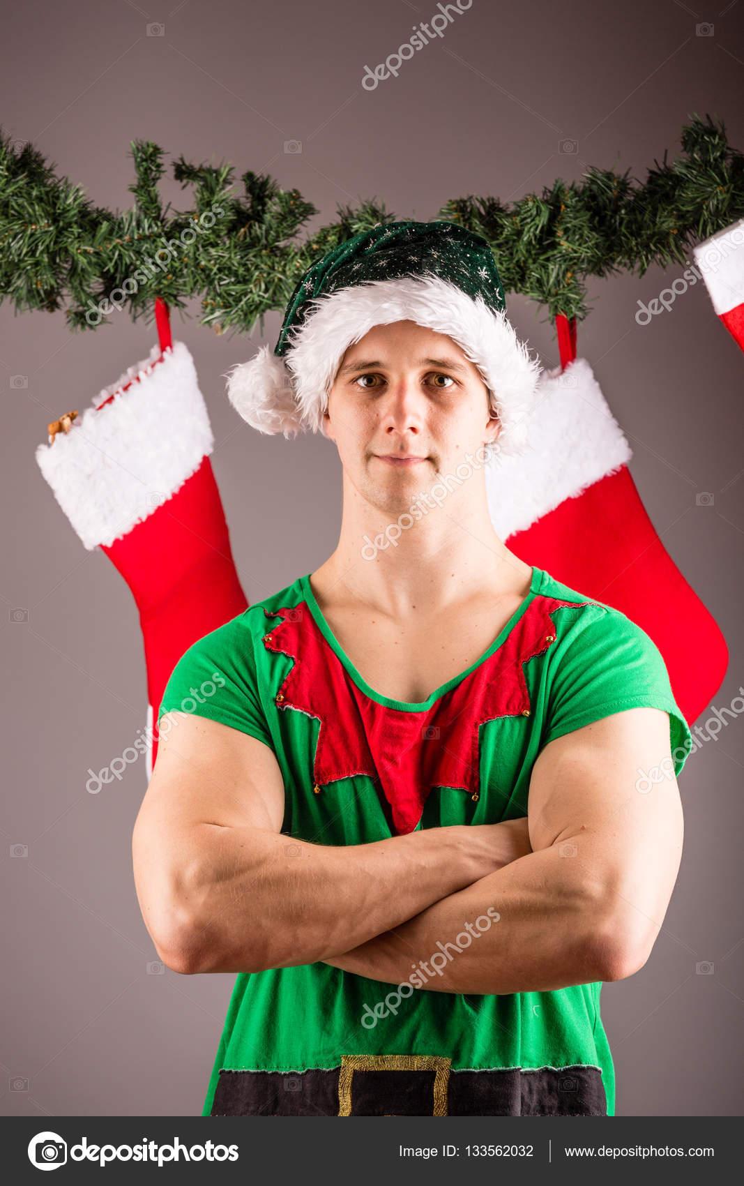 Funny Christmas elf — Stock Photo © csakisti #133562032