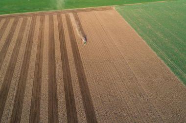 Aerial flight of field