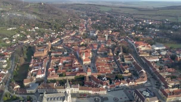 Légi felvétel gyönyörű Kőszegről, Magyarország