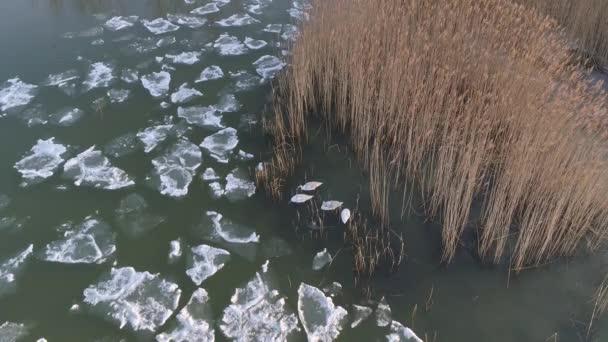 jeges balatoni drónkilátás télen