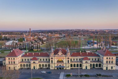 Railway station building in Pecs, hungary