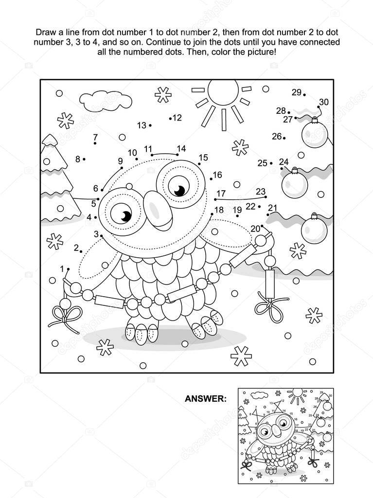 Kinderen 6 Jaar Kleurplaat Paard Pagina Van Het Punt Naar Dot En Kleuren Met Winter