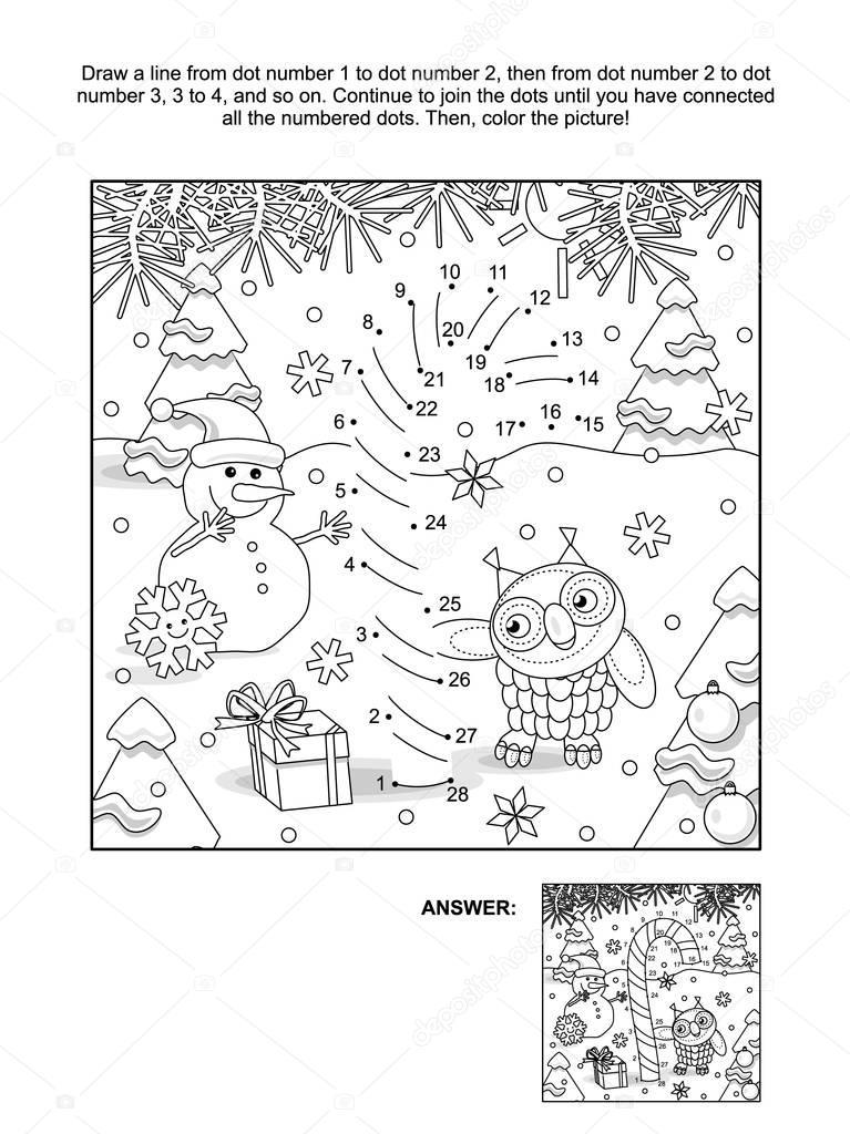 Página de punto a punto y colorear con bastón de caramelo — Archivo ...