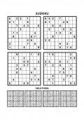 Négy sudoku játékok-a válaszok. Készlet 6.