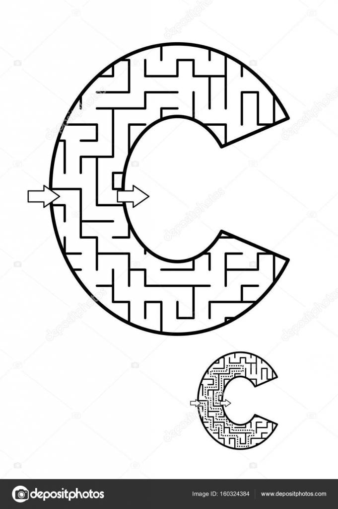 Zurück zum Abc Schulaktivität - Buchstabe C-Labyrinth für Kinder ...
