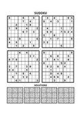 Négy sudoku játékok-a válaszok. Készlet 7.