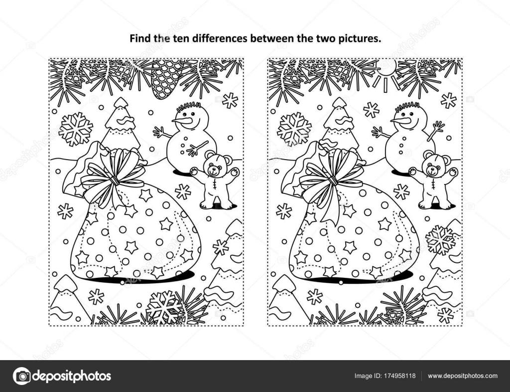 Winterurlaub Themen Finden Sie Die Zehn Unterschiede Bilderrätsel ...