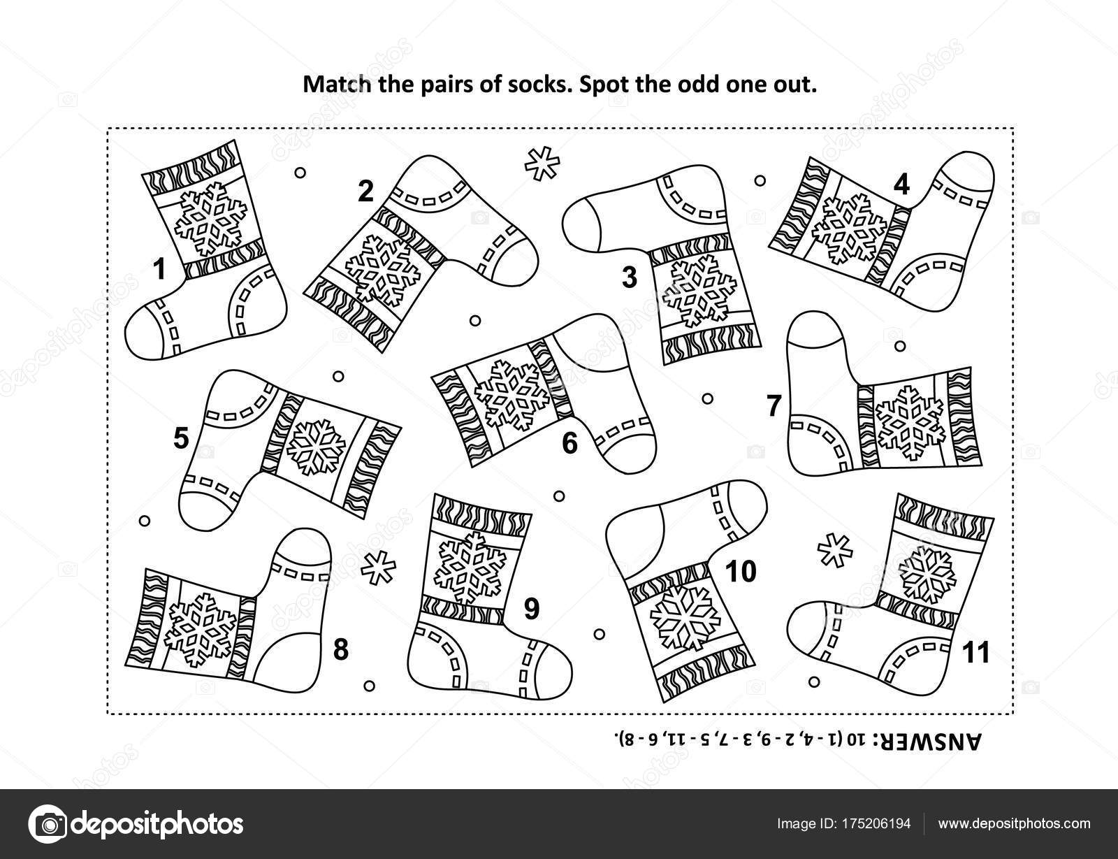 Training Visual Logic Puzzle Coloring Page Santa Somebody Else