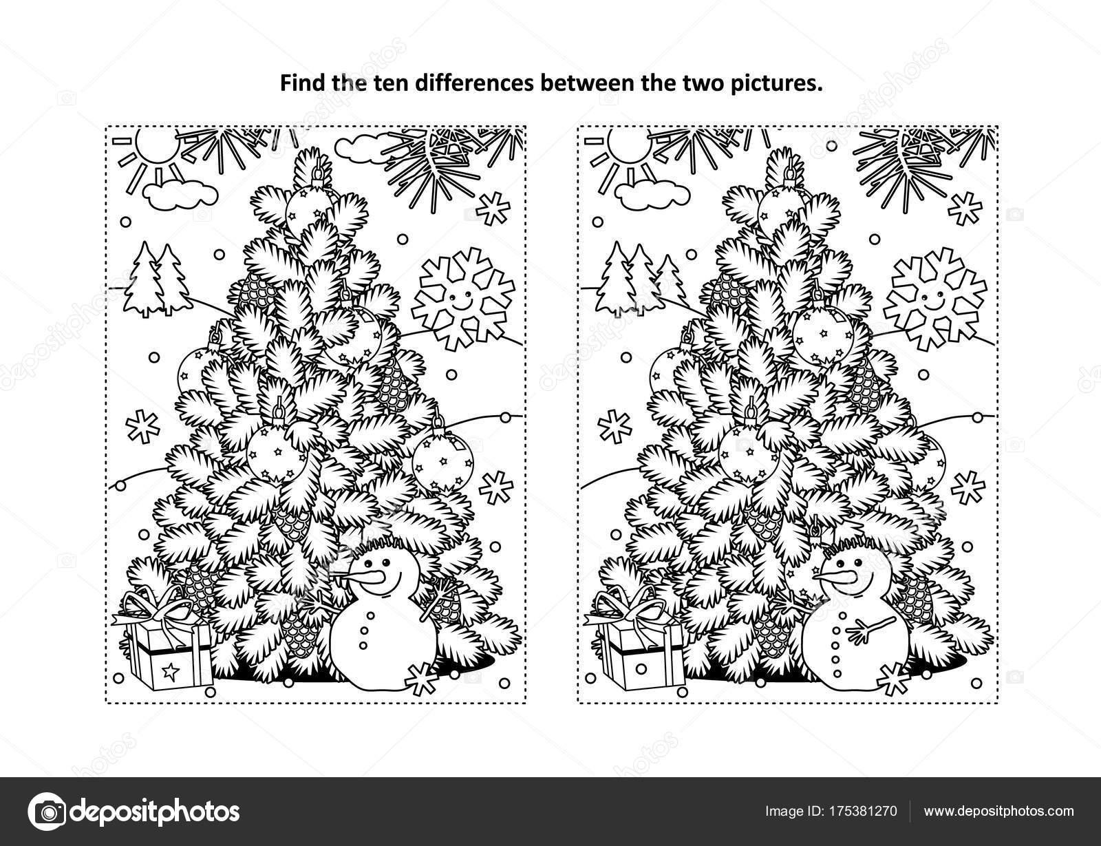 Kleurplaten Nieuwjaar En Kerstmis.Wintervakantie Vinden Nieuwjaar Kerstmis Thema Tien