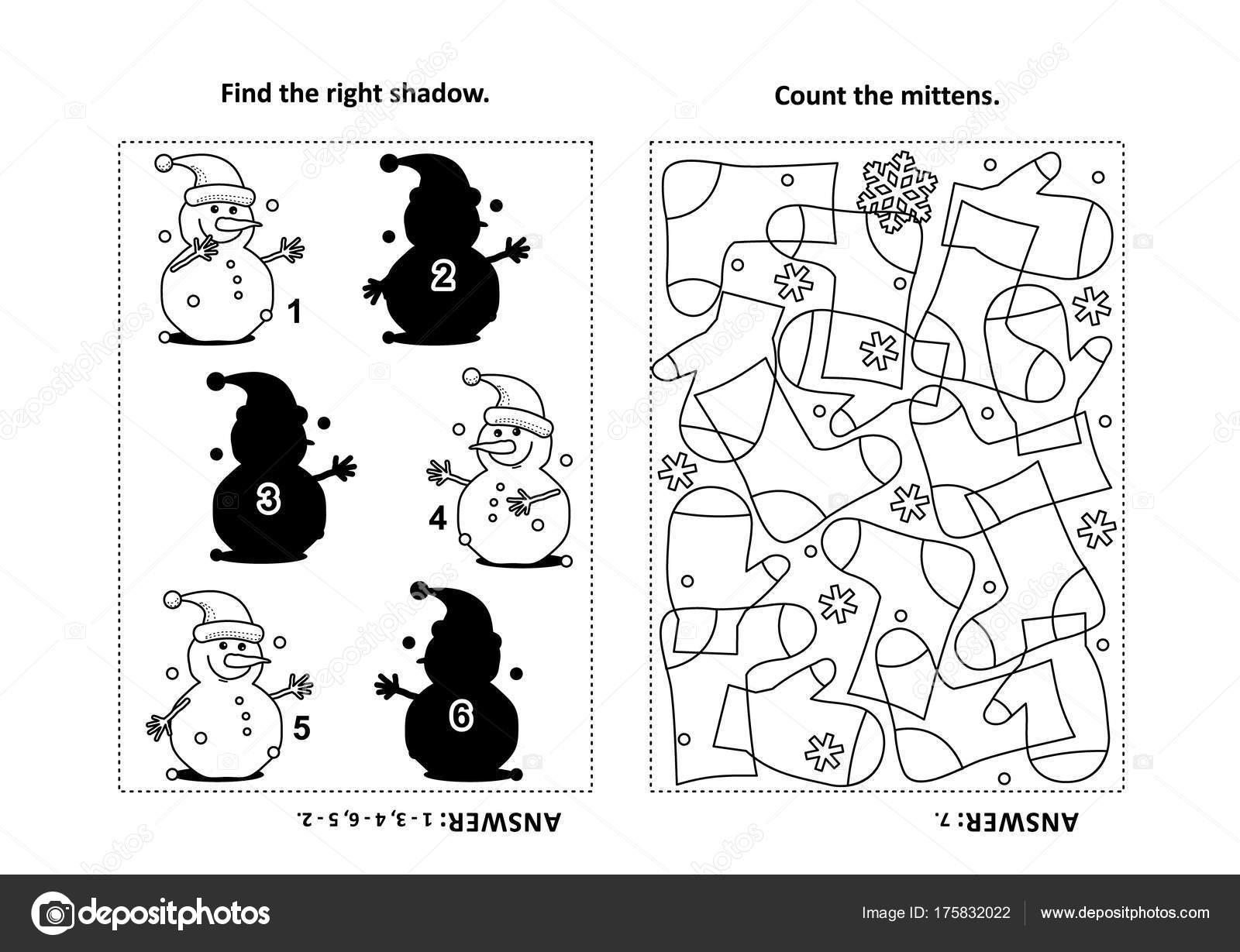 Dos Puzzles Visuales Página Para Colorear Para Niños Encontrar ...