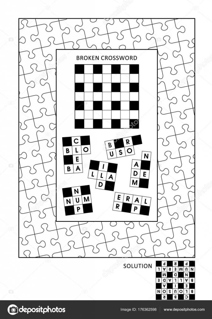 Puzzle Und Coloring Seite Aktivitäten Für Erwachsene Mit Wortspiel ...