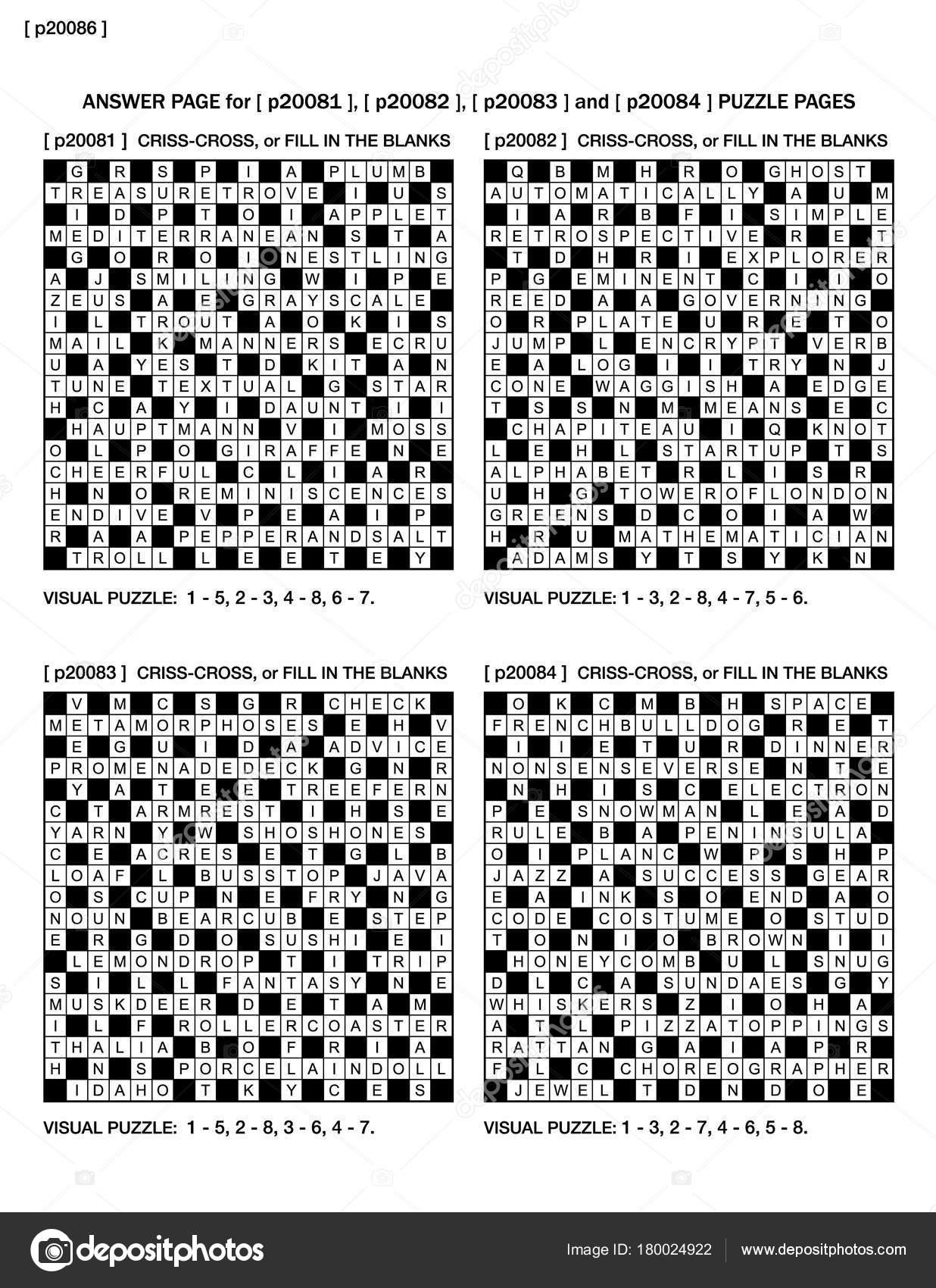 Answer Page Previous Four Puzzle Pages P20081 P20082 P20083