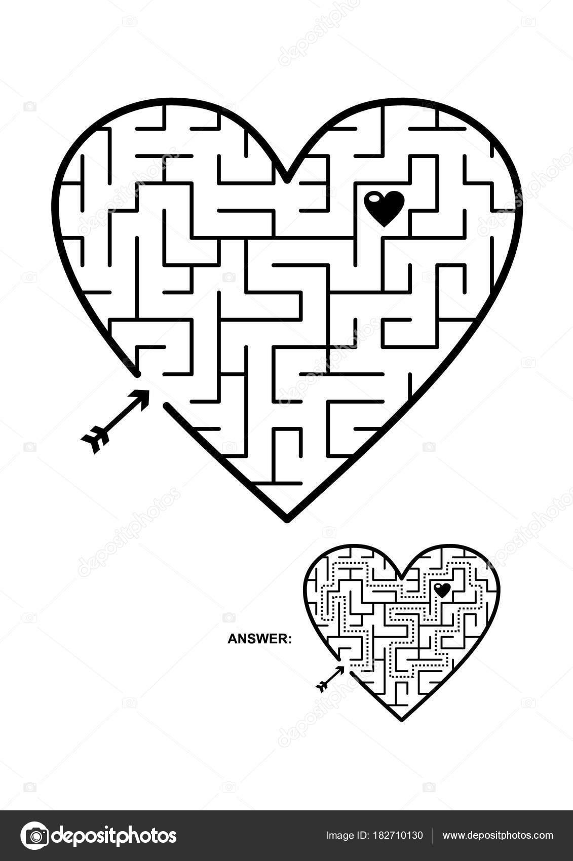 Valentine Day Wedding Romantic Etc Themed Heart Shaped Maze ...