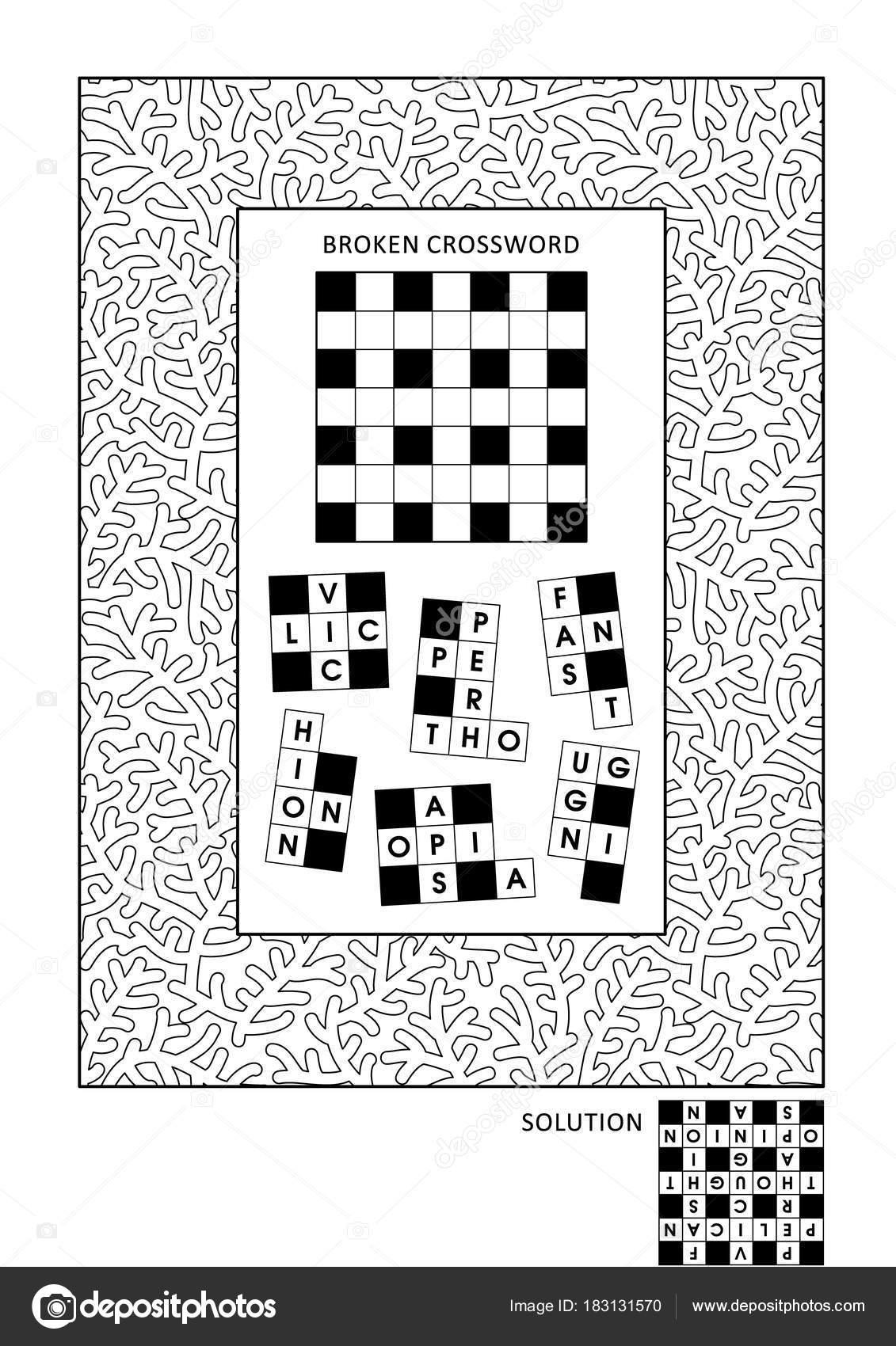 Puzzel Activiteitenpagina Kleurplaten Voor Volwassenen Met Rebus