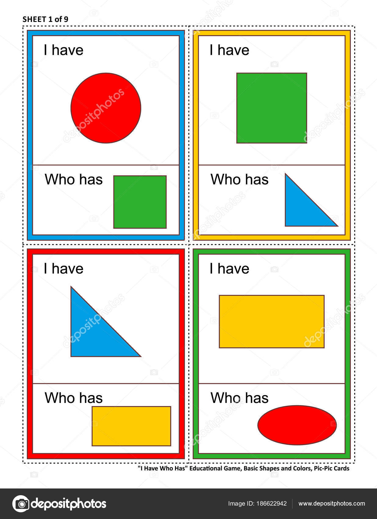 Educational Math Game Kids Have Who Has Sheet Learn Reinforce ...