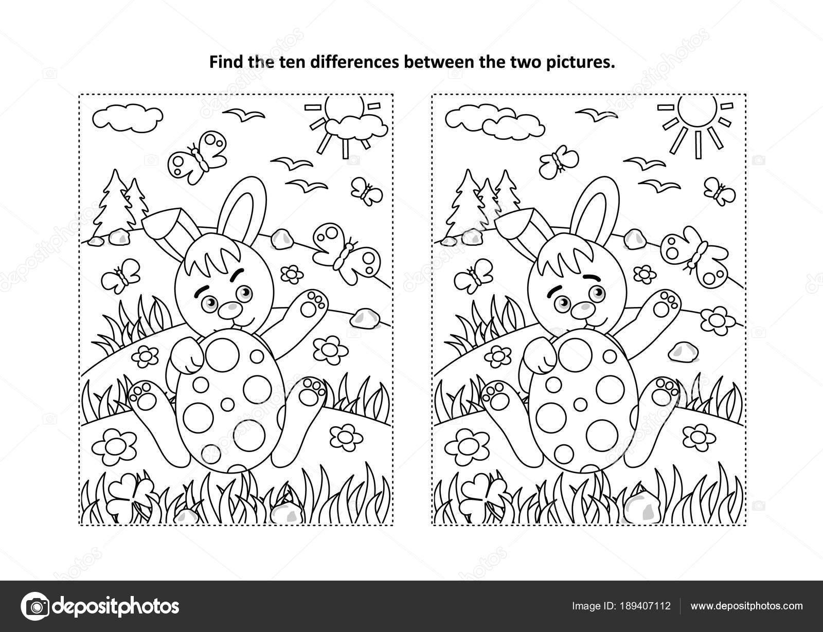Ostern Urlaub Unter Dem Motto Finden Sie Die Zehn Unterschiede ...