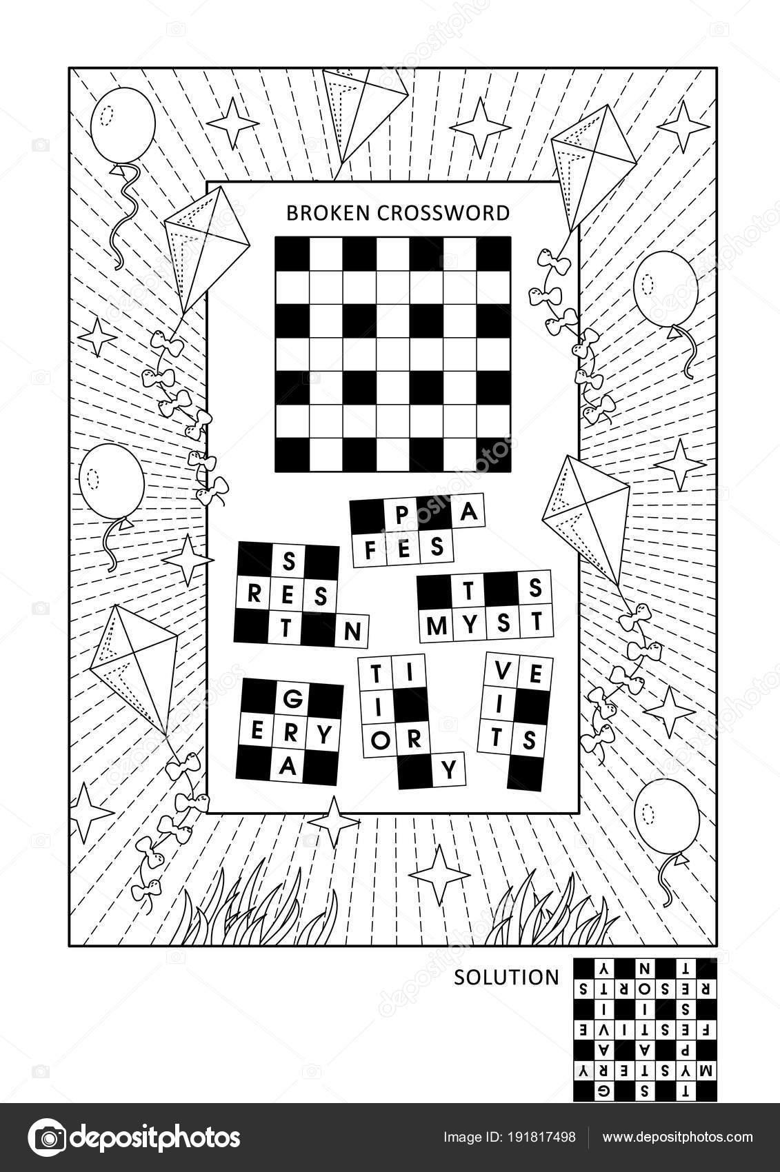 Kleurplaten Van Engels.Puzzel Activiteitenpagina Kleurplaten Voor Volwassenen Met Rebus