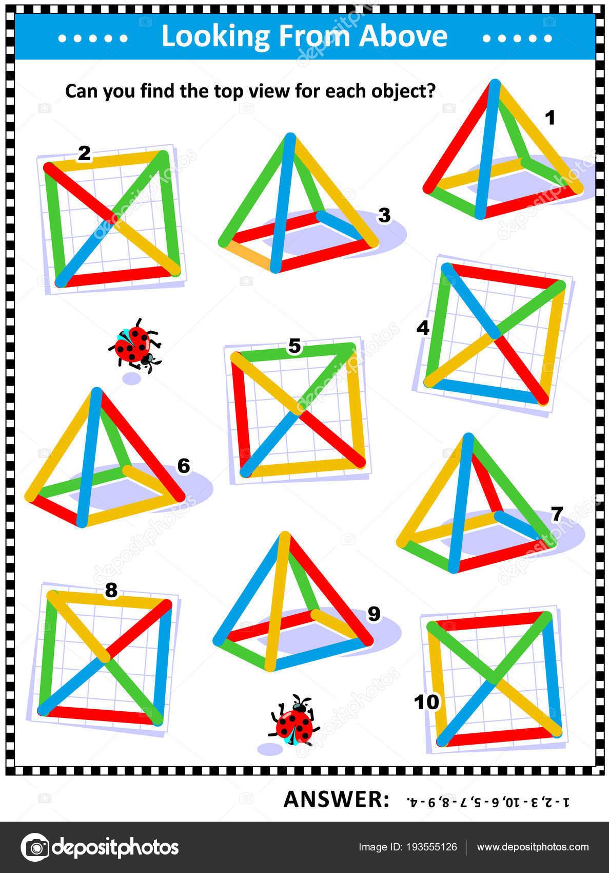 Und Räumliche Fähigkeiten Ausbildung Pädagogische Mathe Puzzle Die ...