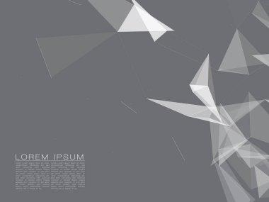 white translucent polygonal shapes