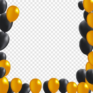 Black And Gold Balloons Free Vector Eps Cdr Ai Svg Vector Illustration Graphic Art