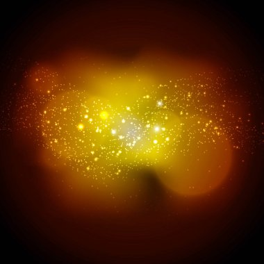 pattern with shiny explosion particles