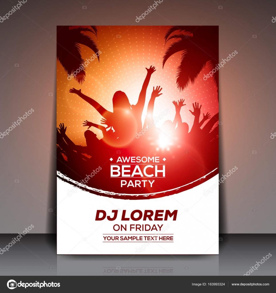 Sommer Strand Party Flyer Vorlage — Stockvektor © hunthomas #163993324