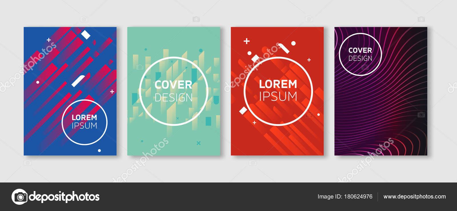 Vector mínimo cubre diseño. Colores vibrantes fríos planos ...