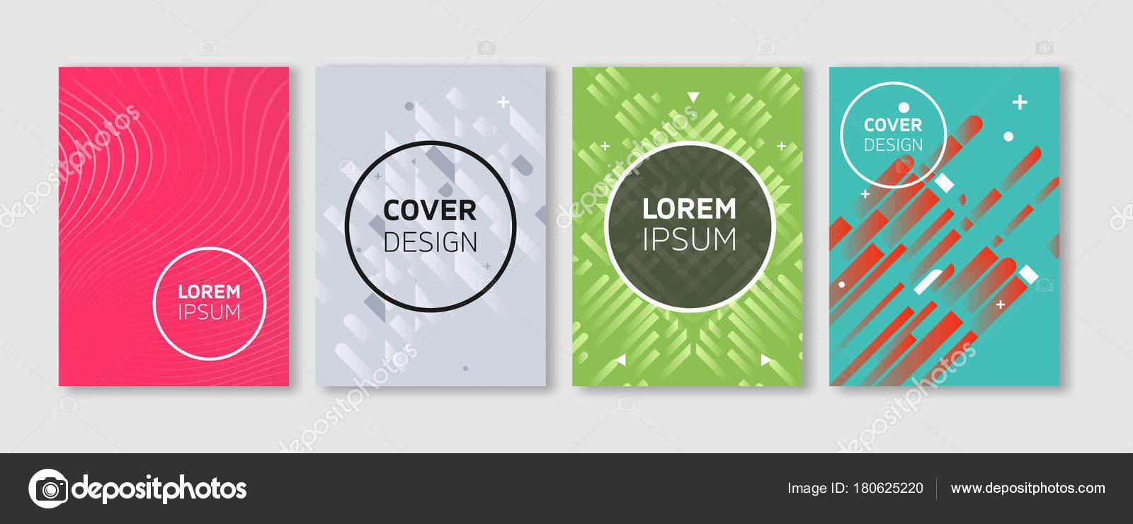 Vector mínimo cubre diseño. Ilustraciones plana fresca de colores ...