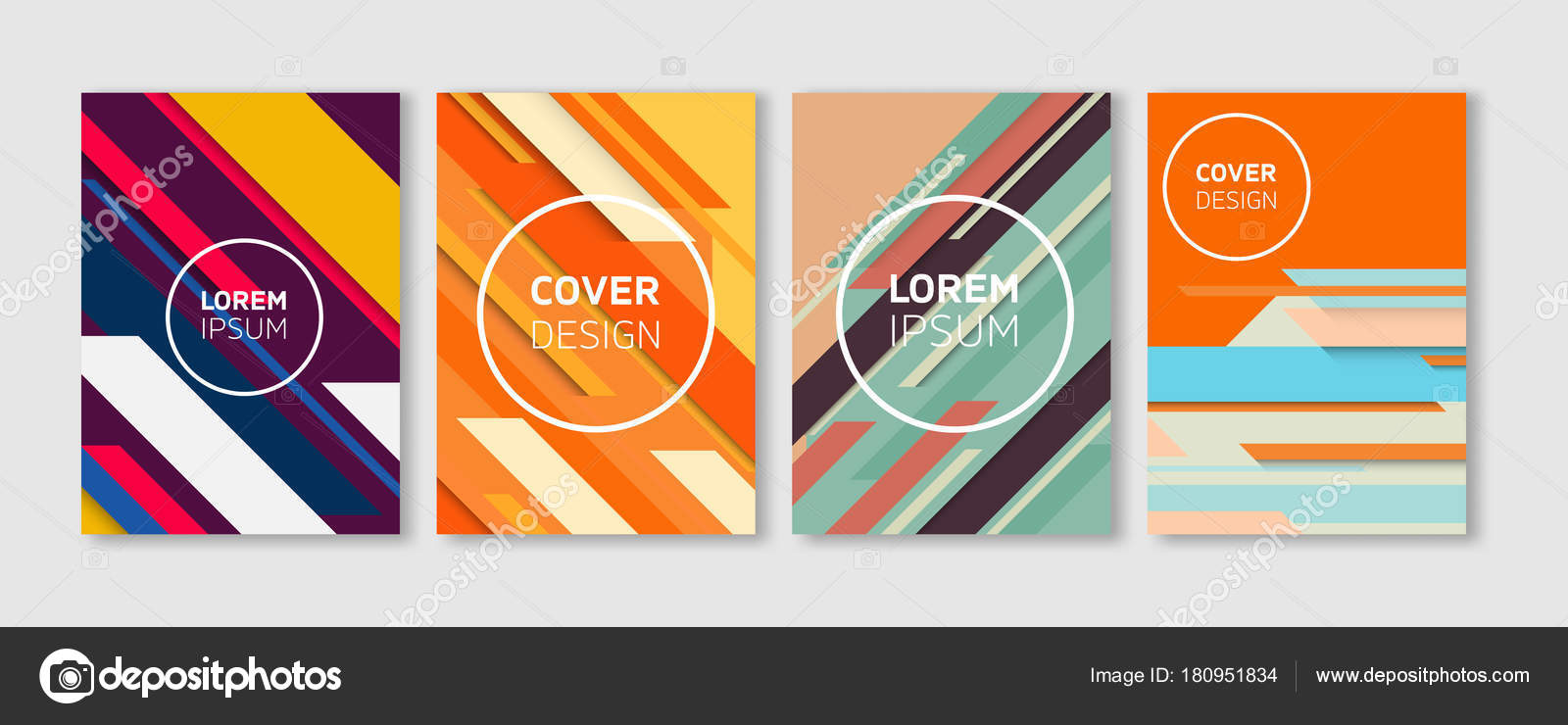Diseño de cubiertas de Vector mínimo. Diagonal de vibrante colorido ...